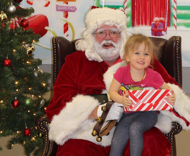Santa and Girl